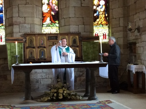 Mass at St Mary's church, Lindisfarne
